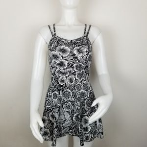 Aeropostale XS Black & White Floral Mini Dress